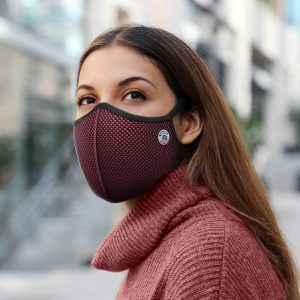 Masque anti-pollution Frogmask bordeaux